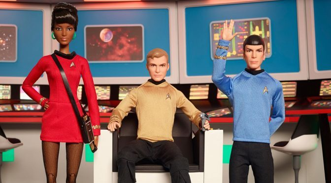 50th Anniversary Star Trek Barbie Dolls by Mattel