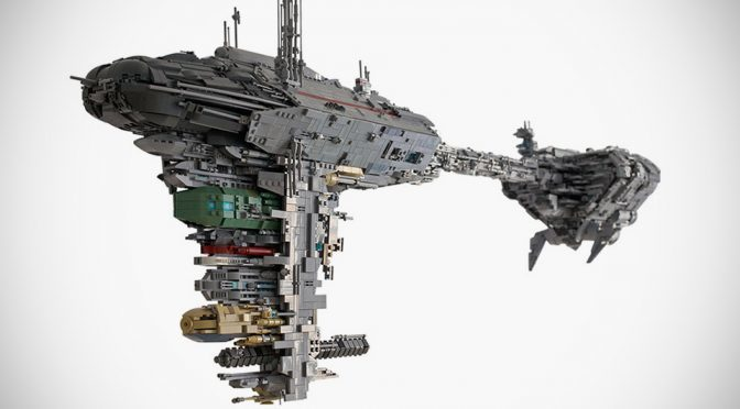LEGO Enthusiast Built A Star Wars Nebulon-B With Incredible Details