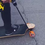 DIY Drill-powered Skateboard Left Us Pretty Much Speechless