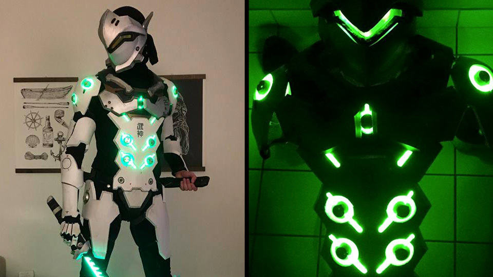 Light Up Overwatch Genji Cosplay Is Insanely Cool Mikeshouts