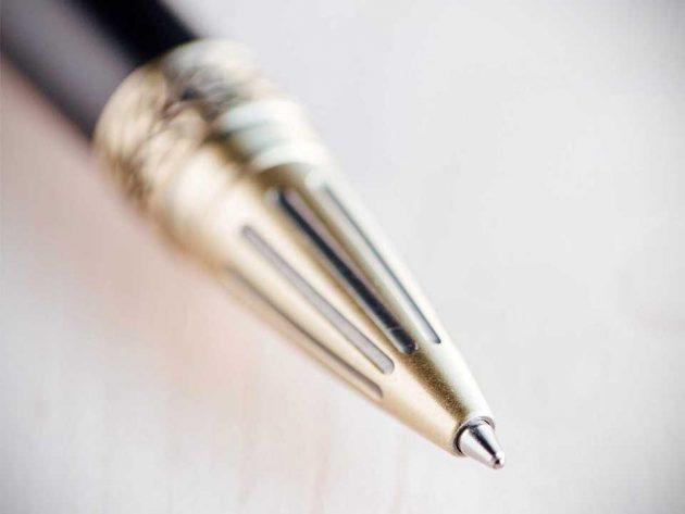 Gearhead Shifter Antique Brass Pen from Bourbon & Boots