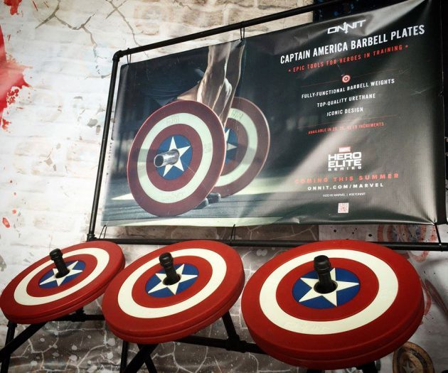 Hero Elite Series Captain America Barbell Plates by Onnit Labs