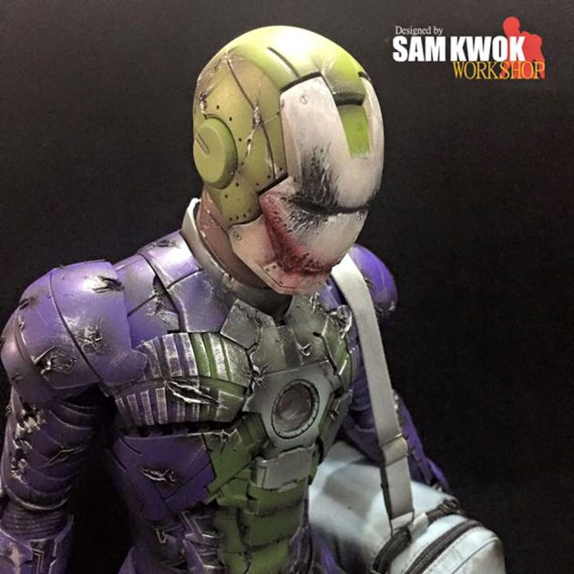 Hot Toys Iron Man Mark V x Joker Mashup by Sam Kwok Workshop