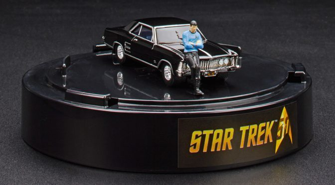 Hot Wheels Tiny Spock Leaning on a 1964 Buick Riviera
