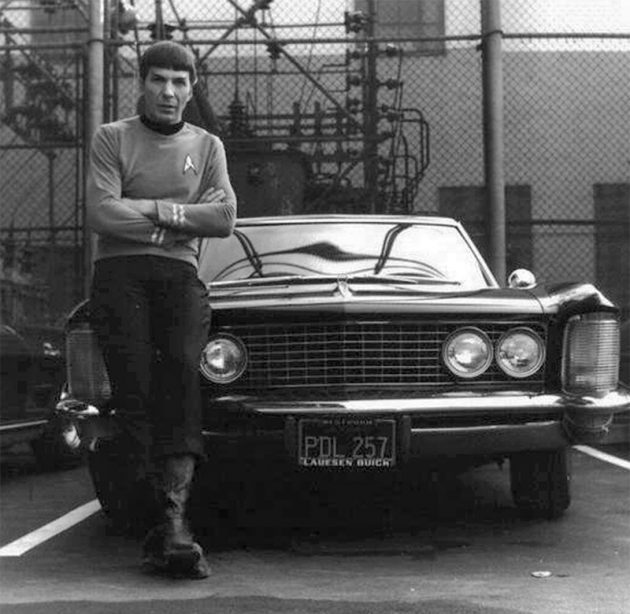 Leonard Nimoy leaning on his 1964 Buick-Riviera