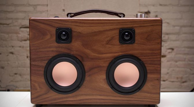 Modern Walnut Boombox: MCM Style And Sensibility Sure Looks Fantastic