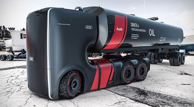 Self-driving Electric Truck Concept for Audi Part 2