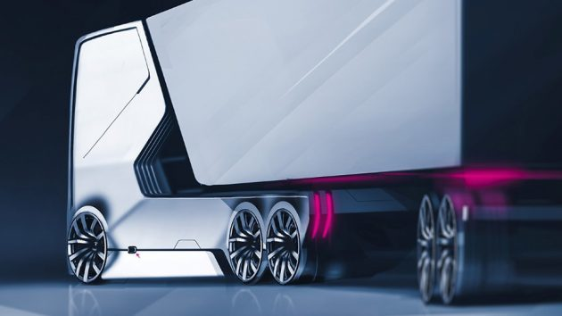 Self-driving Electric Truck Concept for Audi