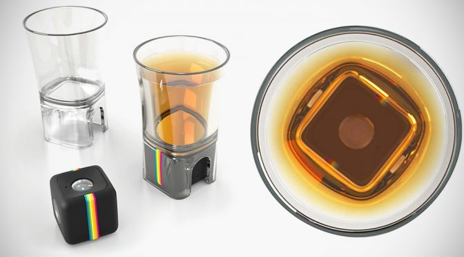 Shot Glass Camera Mount – Captures Bottoms Up POV With Polaroid Cube