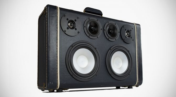 Style Factor Is Through The Roof With These Vintage Suitcase Boomboxes