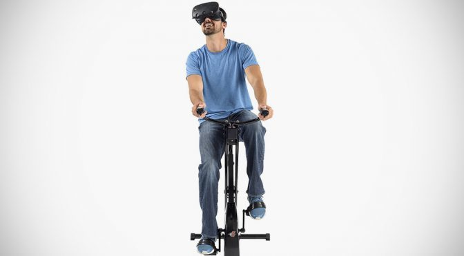 VirZOOM Bike Controller and VirZOOM Arcade Suite of VR Exercise Game