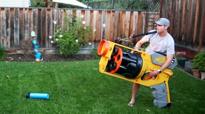 Former NASA Engineer Built The World's Biggest NERF Gun