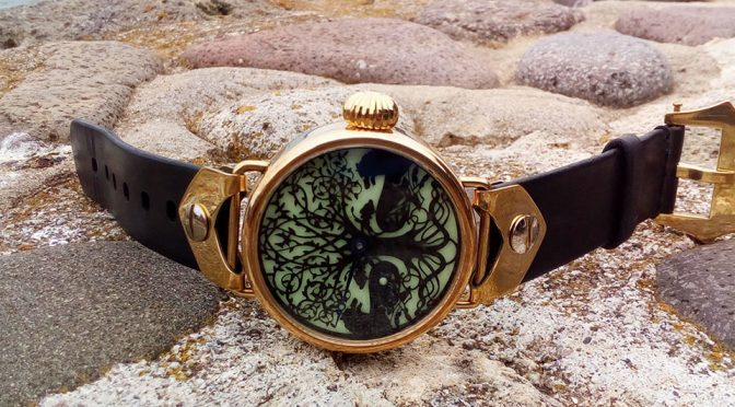 Wristlet Handmade Bronze Mechanical Watch
