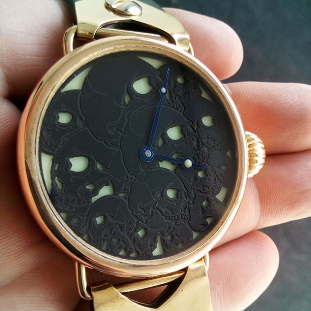 Wristlet Handmade Bronze Mechanical Watch