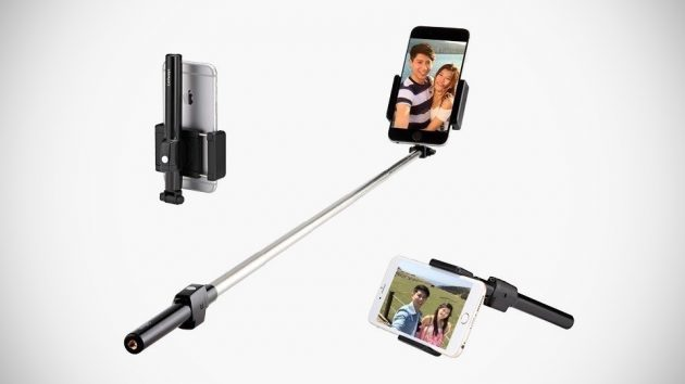 this sleek full size selfie stick can be compacted down to fit in your pocket mikeshouts. Black Bedroom Furniture Sets. Home Design Ideas
