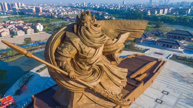 Colossal Guan Yu Statue On Guan Gong Museum