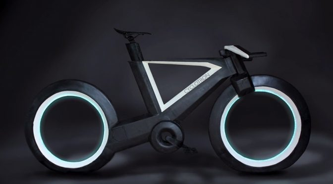 Hubless Bike Glows Like <em>Tron</em>'s Light Cycle, Heralds The Future Of Bicycle