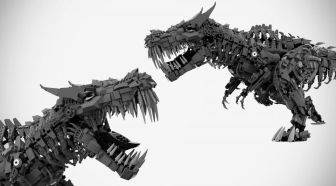Digitally Rendered LEGO <em>Transformers</em> T-Rex Grimlock Have To Be Made!