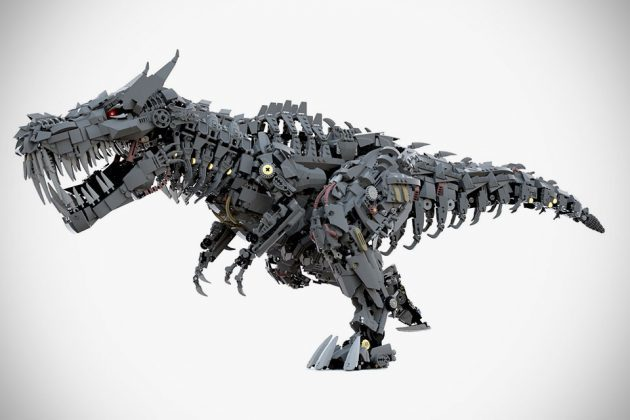 Digitally Rendered LEGO Transformers T-Rex Grimlock