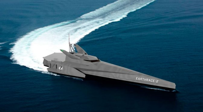 Earthrace's New Conservation Vessel Is Part Frigate, Part Batboat