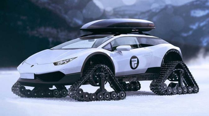 If Lamborghini With Tank Tracks Is Real, It Would Be A Super Snowmobile
