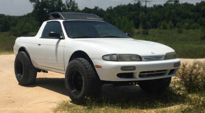 Nissan 240SX Converted To A Truck Without A Truck Frame And It Is <em>LIFTED</em>