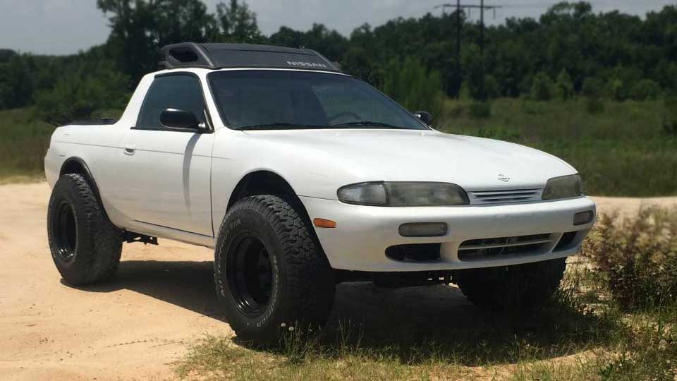 Nissan 240SX Converted To A Truck Without A Truck Frame ...
