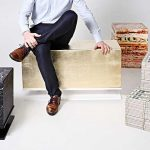 Belgian Designers Created Cushy Gold And 'Vegetables' Stool You Can Sit On