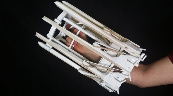 This 3D-printed Rubber Band Gatling Gun Will Make You Look Like A Cyborg