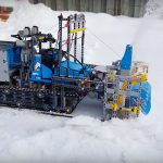 Someone Turned A LEGO Technic Tow Truck Into A Working Snowblower!