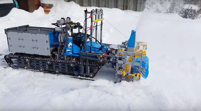 LEGO Technic 6x6 All-terrain Tow Truck Modded Into A Snowblower