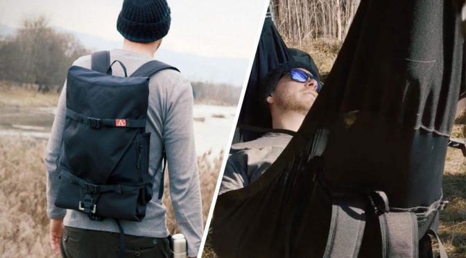 Meet A New Kind Of Hammock That Folds Down To A Functional Backpack